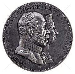 Deutscher Kaiser Wilhelm I  Kaiserin Augusta