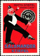 Werbung fuer Salamander Stiefel  1913