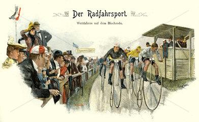 Radrennen  um 1898
