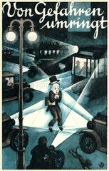 Werbung fuer Unfallversicherung  um 1929
