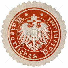 Kaiserliches Patentamt  Papiersiegel  um 1908