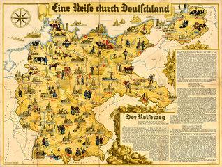 Eine Reise durch Deutschland  Gesellschaftsspiel  1937