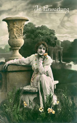 Frau im Park  1921