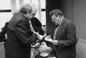 Franz Josef Strauss  Wilfried Scharnagl  1987