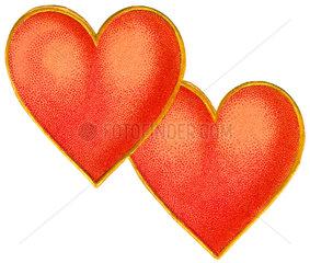 zwei Herzen  Symbol Verliebte