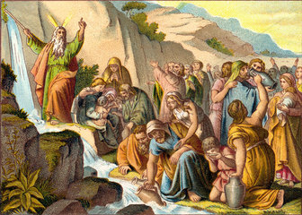 Moses schlaegt Wasser aus dem Felsen  um 1922