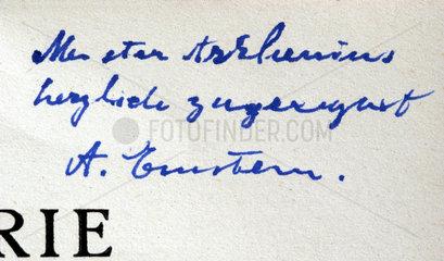 original Unterschrift von Albert Einstein  30er Jahre