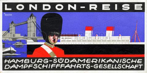 Werbung fuer London-Reisen  1930