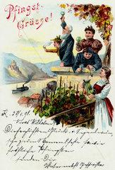 historische Postkarte  1898