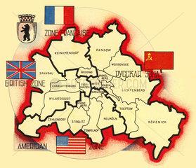 alliierte Sektorengrenzen Berlin 1946