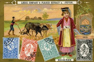 bulgarische Briefmarken  Liebig Sammelbild  1898