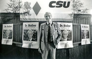 Edmund Stoiber  CSU  Wahlkampf 1986