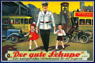 Der gute Schupo  Verkehrsspiel  um 1932