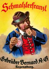 Schnupftabak-Reklame  um 1913
