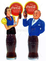 Coca Cola  Werbung  um 1935