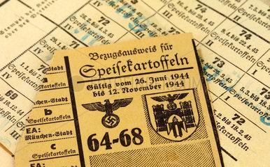 Bezugsschein fuer Kartoffeln  1944  2. Weltkrieg