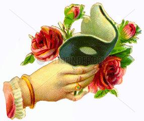 Augenmaske  Faschingsmaske  1897