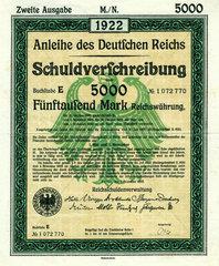 Anleihe des Deutschen Reichs  1922