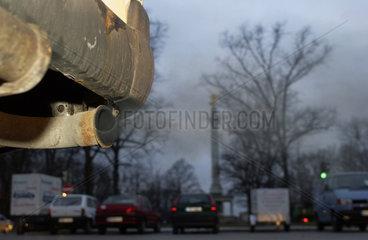 Autoabgase  Feinstaub  Muenchen