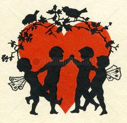 Herz  Elfen  Liebessymbol  1929