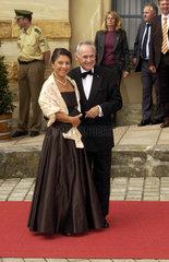 Erwin Huber  Ehefrau  Ehepaar  Bayreuth 2005