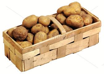 Bio-Kartoffeln  Holzkorb