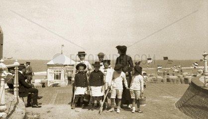 Strandleben Norderney 1910
