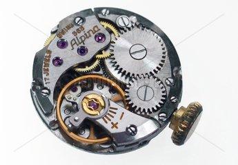 Uhrwerk einer Damenarmbanduhr  Schweizer Fabrikat