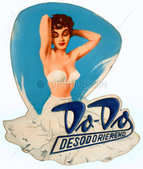 Werbeaufsteller fuer Deodorant  um 1952