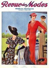franzoesische Damenmode 1932