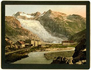 Rhonegletscher 1895  Symbol Klimawandel