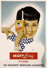 Zigarettenwerbung 50er Jahre