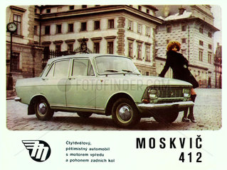 sowjetisches Automodell Moskwitsch 412  um 1970
