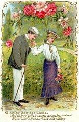 Liebespaar beim Abschied  1904