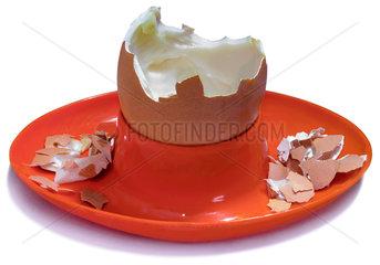Eierbecher  leere Eierschale