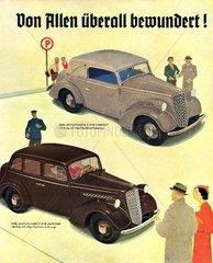 Opel Cabrio und Limousine 1935
