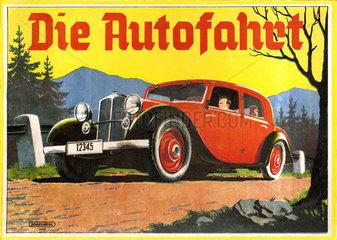 Die Autofahrt  Wuerfelspiel  um 1935