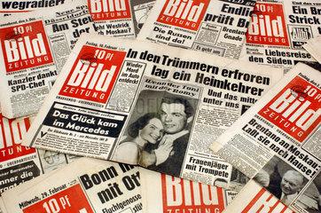 alte Bildzeitungen  1955