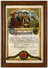 alter Gesellenbrief  1911
