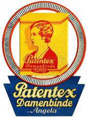 Werbung fuer Damenbinden  1928