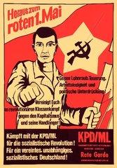 Aufruf zur Maidemonstration  um 1976