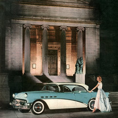 Luxusauto Buick vor Kunstmuseum Cleveland  1955