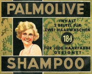altes Palmolive Shampoo  um 1932