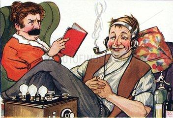 Karikatur Radiohoerer  1926
