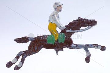 Jockey  Pferderennen  Zinnfigur 1930