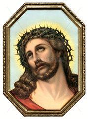 Jesus mit Dornenkrone  um 1922
