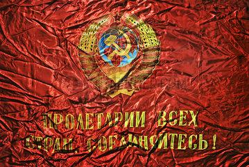 Flagge mit sowjetischem Staatswappen  1977