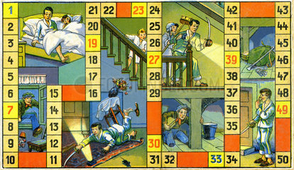 lustiges Wuerfelspiel  Dieb im Haus  1930