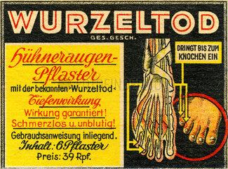 Wurzeltod Huehneraugenpflaster  1937