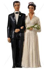 Brautpaar  Spielzeugfiguren  1953